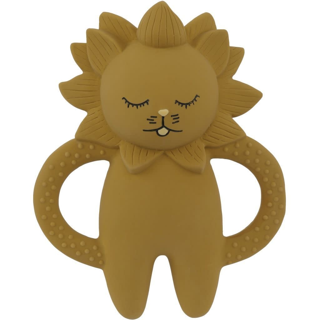 konges slojd Bijtring teeth soother lion