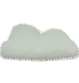 Nobodinoz Marshmallow cloud kussen Aqua 30 x 58