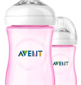 Avent Philips AVENT Zuigfles Natural roos  260 ml (set van 2)