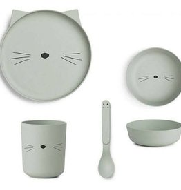 Liewood Eetset Liewood Cat/dusty Mint