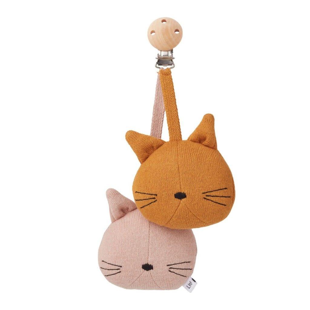 Liewood Rosa pram toy cat rose