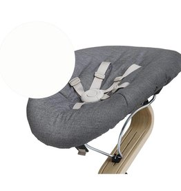 Nomi Nomi Baby basis wit kussen dark/grey sand