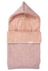 Koeka Koeka - Baby Voetenzak 3/5 Puntsgordel Teddy Vigo - Old pink - One size