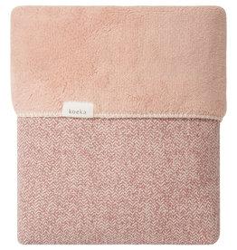 Koeka Wiegdeken teddy Vigo 75x100 old pink/shadow pink