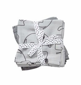 Done by Deer Swaddle, 2-pack, Contour, grey
