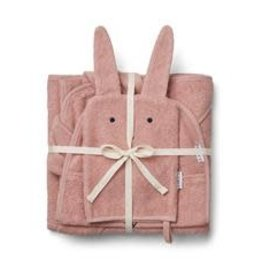 Liewood Adele terry baby package Rabbit rose