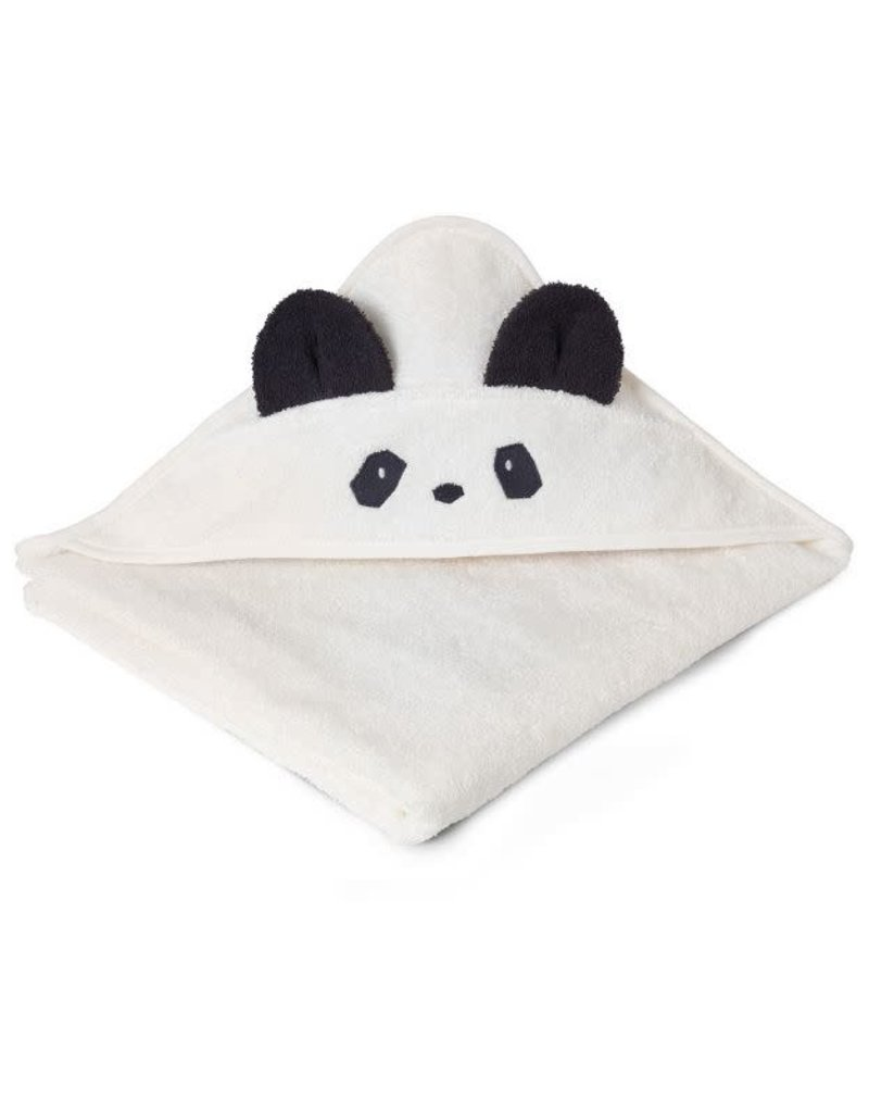 Liewood Augusta Hooded Junior Towel - Panda creme de la creme