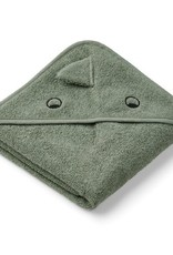 Liewood Augusta Hooded Junior Towel - Dino faune green