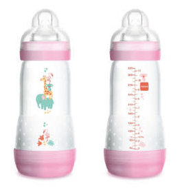 Mam Easy start fles duo 320 ml roos