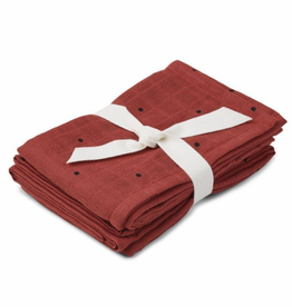 Liewood Hannah Muslin Cloth Classic dot rusty