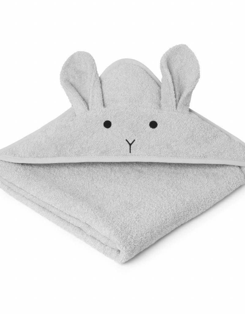 Liewood Augusta Hooded Junior Towel - Rabbit dumbo grey