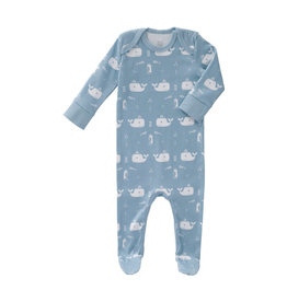 Fresk Pyjama whale blue fog newborn