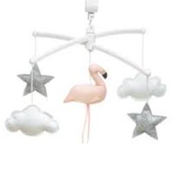 Pouce et Lina Mobiel Roos Grijs Flamingo