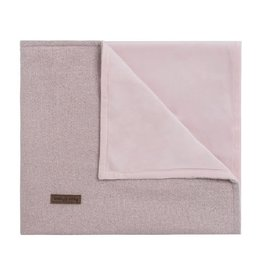 Ledikantdeken soft sparkle zilver roze melee