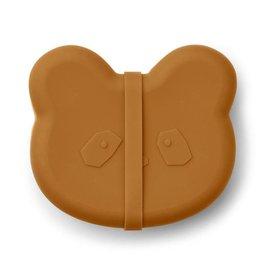 Liewood Vita silicone lunch box | Panda Mustard