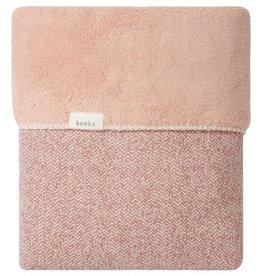 Koeka Ledikantdeken teddy Vigo 100x150 old pink/shadow pink