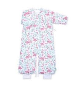 Bemini Slaapzak 3-9M roze flamingo's print / pady/jersey / tog 3.0