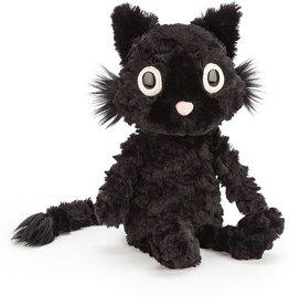 JellyCat Zwarte knuffel kat