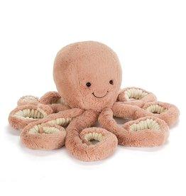 JellyCat Octopus knuffel roos/bruin