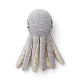 Liewood Octopus grote knuffel grijs