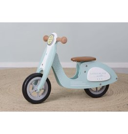 Little Dutch Houten loopscooter turquoise
