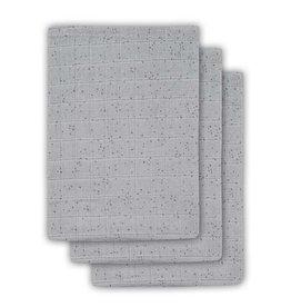 Jollein Hydrofiel washandje Mini dots mist grey (3pack)
