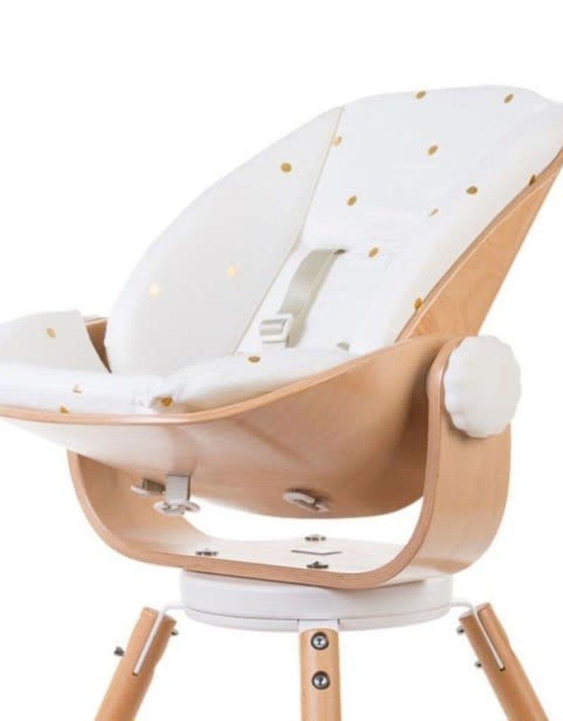 Childhome Newborn seat naturel en wit kussen gold dots