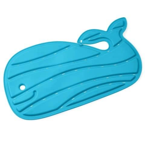 Walvis bad mat blauw