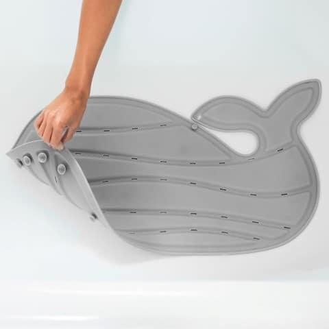 Walvis bad mat grijs