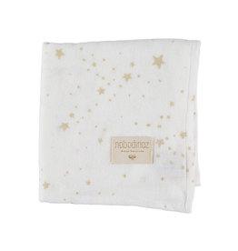 Nobodinoz Tetra doekje wit met gouden sterren