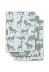 Jollein Hydrofiel washandje Safari forest green (3pack)