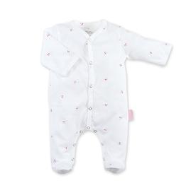 Bemini Pyjama wit met rode kersjes 0/1 maand