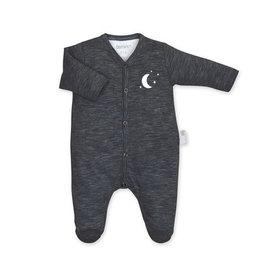 Bemini Pyjama donker grijs met maantje 0-1 maand
