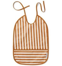 Liewood Slabbetje stripe mustard / crème de la crème