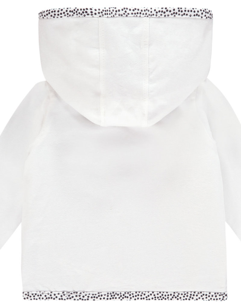 Noppies Pulletje wit met jersey bolletjes aan de binnenkant reversible