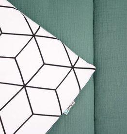 Ukje Boxkleed Jade geometrisch