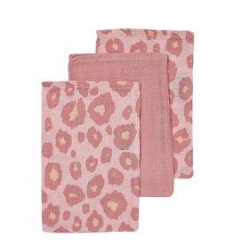 Meyco Tetra washandjes Panter pink (3 pack)