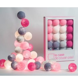 Slinger cotton lampjes roze l'originale