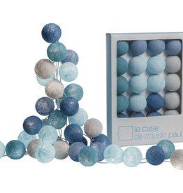 Slinger cotton lampjes blauw l'originale
