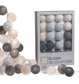 Slinger cotton lampjes grijs
