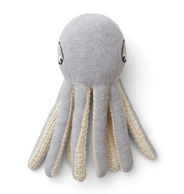 Liewood Octopus kleine knuffel grijs