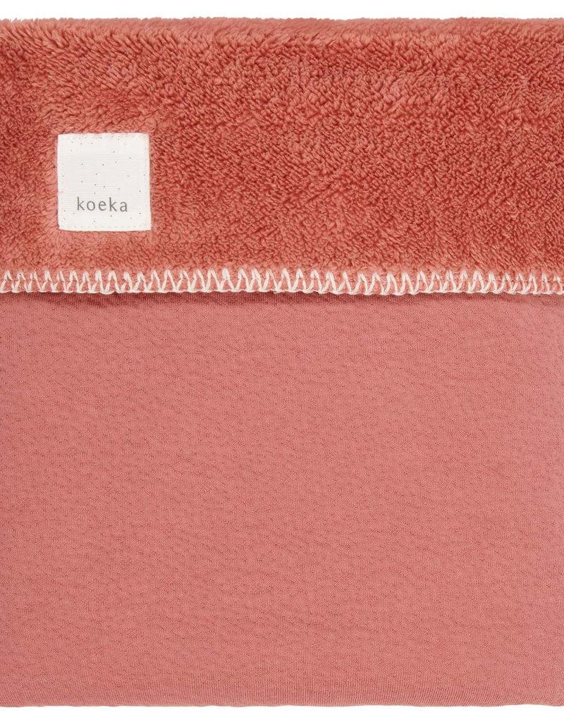 Koeka Koeka - Ledikantdeken Runa teddy - Brique - 100x150