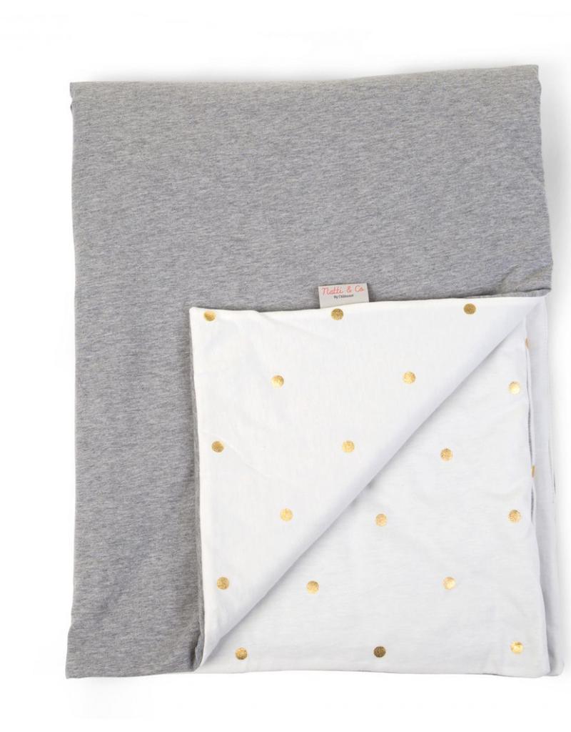 Childhome Deken 80x100cm Gold Dots
