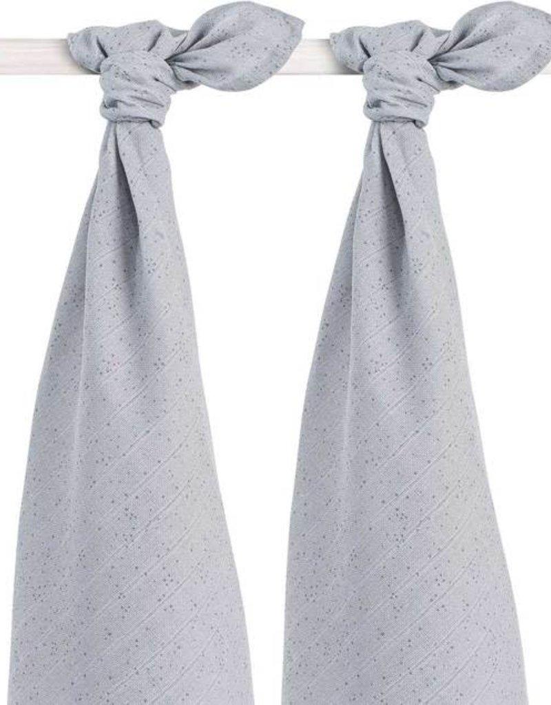 Jollein Set van 2 swaddles mini dots mist grey