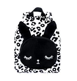 Van Pauline Bunny Backpack White Leopard