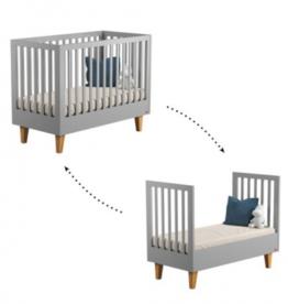 Quax Omvormbaar bed loft grey 70x140