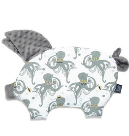 La millou Sleepy pig pillow grey