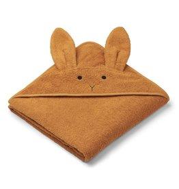 Liewood Augusta Towel badcape Rabbit Mustard groot