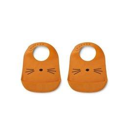 Liewood Tilda silicone slab | Cat mustard - 2 pack