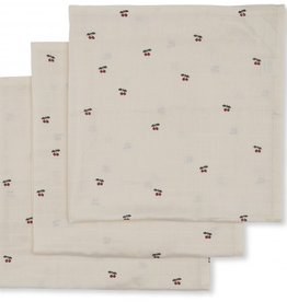 Konges slojd Mmousseline tetra doeken -Cherry - 3 pack